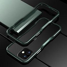 Coque Bumper Luxe Aluminum Metal Etui N02 pour Apple iPhone 12 Mini Vert Nuit