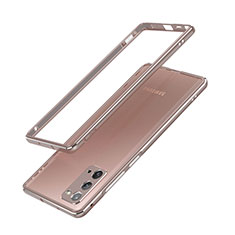 Coque Bumper Luxe Aluminum Metal Etui N03 pour Samsung Galaxy Note 20 5G Bronze
