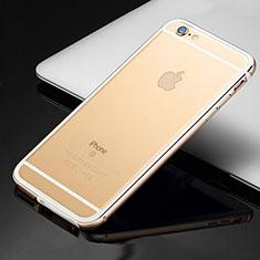 Coque Bumper Luxe Aluminum Metal Etui pour Apple iPhone 6 Or