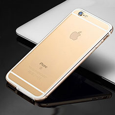 Coque Bumper Luxe Aluminum Metal Etui pour Apple iPhone 6S Or