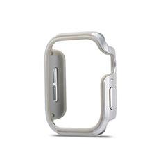 Coque Bumper Luxe Aluminum Metal Etui pour Apple iWatch 5 40mm Argent