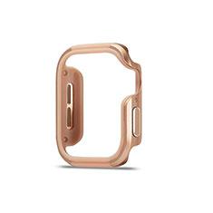 Coque Bumper Luxe Aluminum Metal Etui pour Apple iWatch 5 44mm Or