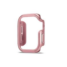Coque Bumper Luxe Aluminum Metal Etui pour Apple iWatch 5 44mm Or Rose