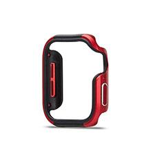 Coque Bumper Luxe Aluminum Metal Etui pour Apple iWatch 5 44mm Rouge et Noir