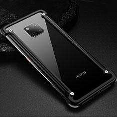Coque Bumper Luxe Aluminum Metal Etui pour Huawei Mate 20 Pro Noir