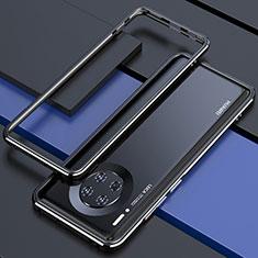 Coque Bumper Luxe Aluminum Metal Etui pour Huawei Mate 30 5G Noir
