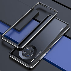 Coque Bumper Luxe Aluminum Metal Etui pour Huawei Mate 30E Pro 5G Noir