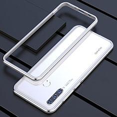 Coque Bumper Luxe Aluminum Metal Etui pour Huawei P30 Lite Argent