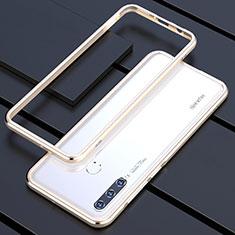Coque Bumper Luxe Aluminum Metal Etui pour Huawei P30 Lite Or