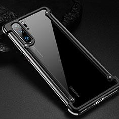 Coque Bumper Luxe Aluminum Metal Etui pour Huawei P30 Pro Noir