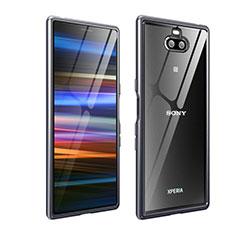 Coque Bumper Luxe Aluminum Metal Etui pour Sony Xperia 10 Plus Gris