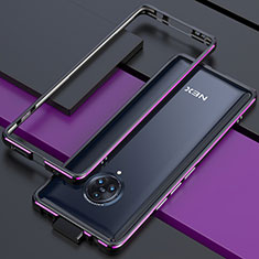 Coque Bumper Luxe Aluminum Metal Etui pour Vivo Nex 3 5G Violet
