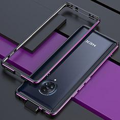 Coque Bumper Luxe Aluminum Metal Etui pour Vivo Nex 3S Violet