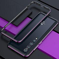 Coque Bumper Luxe Aluminum Metal Etui pour Xiaomi Mi 10 Violet