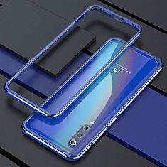Coque Bumper Luxe Aluminum Metal Etui pour Xiaomi Mi 9 Pro 5G Bleu
