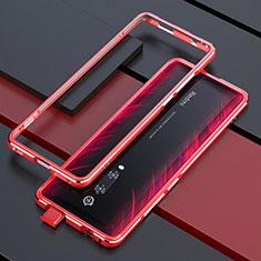 Coque Bumper Luxe Aluminum Metal Etui pour Xiaomi Mi 9T Pro Rouge