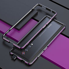 Coque Bumper Luxe Aluminum Metal Etui pour Xiaomi Redmi K20 Violet