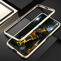 Coque Bumper Luxe Aluminum Metal Etui T01 pour Realme X50 Pro 5G Or