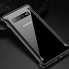 Coque Bumper Luxe Aluminum Metal Etui T01 pour Samsung Galaxy S10 Plus Noir