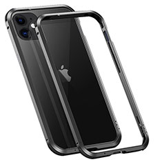 Coque Bumper Luxe Aluminum Metal Etui T02 pour Apple iPhone 12 Noir