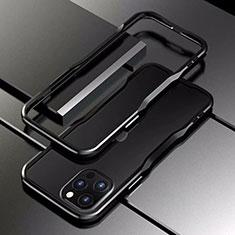 Coque Bumper Luxe Aluminum Metal Etui T03 pour Apple iPhone 12 Pro Noir