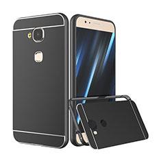Coque Bumper Luxe Aluminum Metal pour Huawei G7 Plus Noir