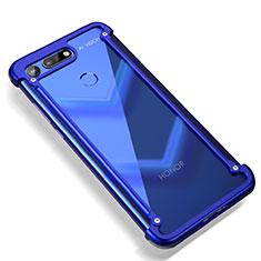 Coque Bumper Luxe Aluminum Metal pour Huawei Honor V20 Bleu