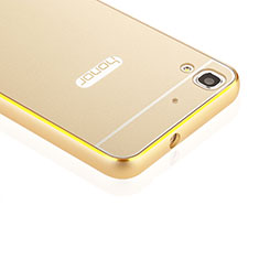 Coque Bumper Luxe Aluminum Metal pour Huawei Y6 Or