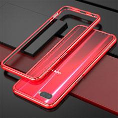 Coque Bumper Luxe Aluminum Metal pour Oppo K1 Rouge