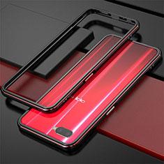 Coque Bumper Luxe Aluminum Metal pour Oppo K1 Rouge et Noir