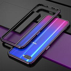 Coque Bumper Luxe Aluminum Metal pour Oppo K1 Violet