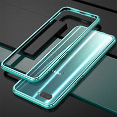 Coque Bumper Luxe Aluminum Metal pour Oppo R15X Cyan