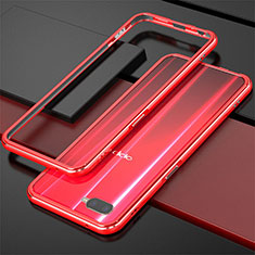 Coque Bumper Luxe Aluminum Metal pour Oppo R17 Neo Rouge