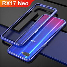 Coque Bumper Luxe Aluminum Metal pour Oppo RX17 Neo Bleu