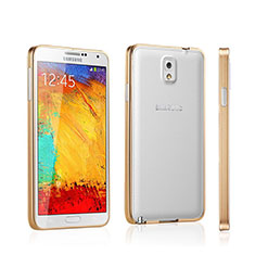 Coque Bumper Luxe Aluminum Metal pour Samsung Galaxy Note 3 N9000 Or