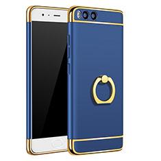 Coque Bumper Luxe Metal et Plastique avec Support Bague Anneau A02 pour Xiaomi Mi 6 Bleu