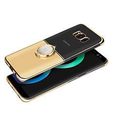 Coque Bumper Luxe Metal et Plastique avec Support Bague Anneau Aimante pour Samsung Galaxy S8 Plus Or