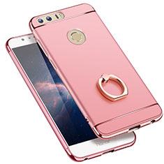 Coque Bumper Luxe Metal et Plastique avec Support Bague Anneau pour Huawei Honor 8 Or Rose
