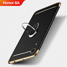 Coque Bumper Luxe Metal et Plastique avec Support Bague Anneau pour Huawei Honor 8A Noir