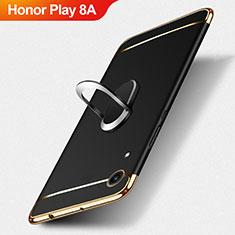 Coque Bumper Luxe Metal et Plastique avec Support Bague Anneau pour Huawei Honor Play 8A Noir
