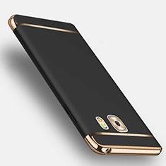 Coque Bumper Luxe Metal et Plastique avec Support Bague Anneau pour Samsung Galaxy C9 Pro C9000 Noir