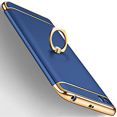 Coque Bumper Luxe Metal et Plastique avec Support Bague Anneau pour Xiaomi Mi 5 Bleu
