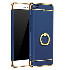 Coque Bumper Luxe Metal et Plastique avec Support Bague Anneau pour Xiaomi Mi 5S Bleu