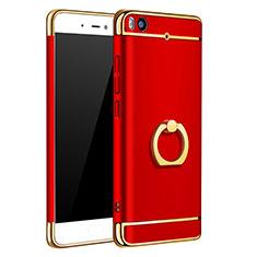 Coque Bumper Luxe Metal et Plastique avec Support Bague Anneau pour Xiaomi Mi 5S Rouge
