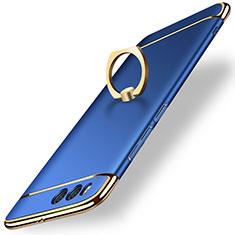 Coque Bumper Luxe Metal et Plastique avec Support Bague Anneau pour Xiaomi Mi 6 Bleu