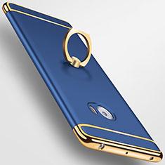 Coque Bumper Luxe Metal et Plastique avec Support Bague Anneau pour Xiaomi Mi Note 2 Special Edition Bleu
