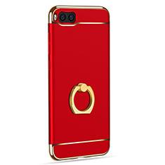 Coque Bumper Luxe Metal et Plastique avec Support Bague Anneau pour Xiaomi Mi Note 3 Rouge
