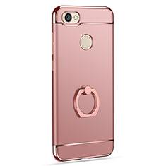 Coque Bumper Luxe Metal et Plastique avec Support Bague Anneau pour Xiaomi Redmi Y1 Or Rose