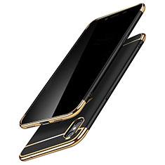 Coque Bumper Luxe Metal et Plastique C01 pour Apple iPhone X Noir