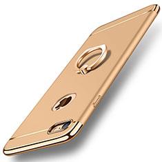 Coque Bumper Luxe Metal et Plastique Etui Housse avec Support Bague Anneau A01 pour Apple iPhone 8 Or